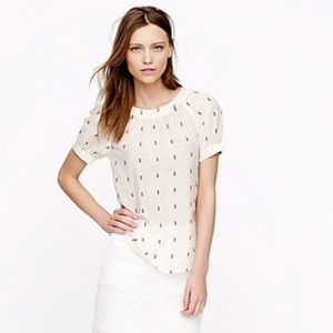 J. Crew Embroidered voile top.